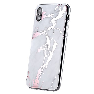 IMD marmo 8 8 retro 06657547 Morbido iPhone Per Custodia iPhone X Ultra Placcato per Apple sottile Effetto ghiaccio Plus TPU Effetto Per iPhone Xqwa8S