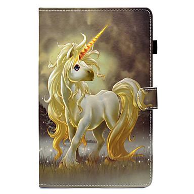 voordelige Samsung Tab-serie hoesjes / covers-hoesje Voor Samsung Galaxy Tab E 9.6 / Tab E 8.0 / Tab A 9.7 Kaarthouder / met standaard / Flip Volledig hoesje Eenhoorn Hard PU-nahka