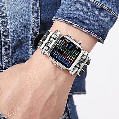 Χαμηλού Κόστους Ανδρικά ρολόγια-Ανδρικά Αθλητικό Ρολόι Στρατιωτικό Ρολόι Ψηφιακό ρολόι Ιαπωνικά Ψηφιακό Ανοξείδωτο Ατσάλι Μαύρο 30 m Δημιουργικό Νεό Σχέδιο Φωτίζει Ψηφιακό Πολυτέλεια Βραχιόλι - Μαύρο Ασημί / Ενας χρόνος