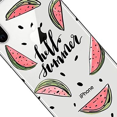 iPhone TPU Per iPhone X 8 Plus Apple iPhone Fantasia iPhone Per Frutta Transparente per 06749164 iPhone 8 Custodia 8 retro Morbido X disegno xOEznW