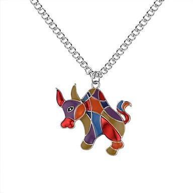 preiswerte Halsketten-Damen Pendant Halskette Lang damas Retro Zeichentrick Modisch Aleación Gold Silber 62+5 cm Modische Halsketten Schmuck 1pc Für Schultaschen Strasse