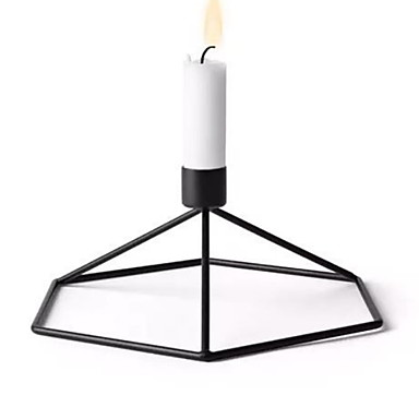 Simple Style Iron Candle Holders Candlestick 1pc, Candle / Candle Holder