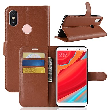 6dc59f55e16 Case For Xiaomi Redmi S2   Mi 8 Wallet   Card Holder   Flip Full Body Cases  Solid Colored Hard PU Leather for Xiaomi Redmi Note 5A   Xiaomi Redmi Note  5 ...