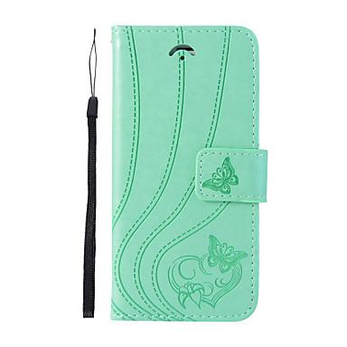 Недорогие Чехлы и кейсы для Galaxy S6-Кейс для Назначение SSamsung Galaxy S9 / S9 Plus / S8 Plus Бумажник для карт / со стендом / Флип Чехол Бабочка Твердый Кожа PU