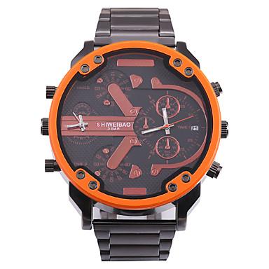 levne Pánské-SHI WEI BAO Pánské Sportovní hodinky Vojenské hodinky Křemenný Velkoformátové Nerez Černá Kalendář Kompas Hodinky s dvojitým časem Analogové Na běžné nošení Módní - Oranžová Červená Modrá Jeden rok