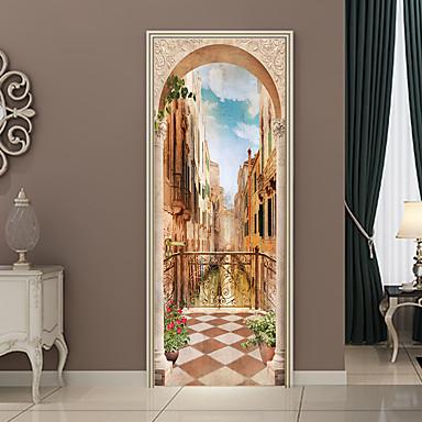 ملصقات الباب - لواصق مناظر طبيعية / الأزهار / النباتية غرفة الجلوس / غرفة النوم