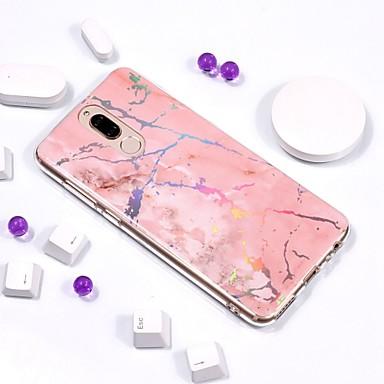 voordelige Huawei Mate hoesjes / covers-hoesje Voor Huawei Mate 10 / Mate 10 pro / Mate 10 lite Beplating / IMD / Patroon Achterkant Marmer Zacht TPU