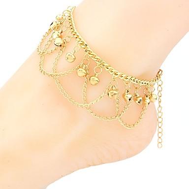 hesapli Vücut Takıları-Kadın's Ayak bileziği ayak takı Zil İfade Bayan Bohem Moda Boho Ayak bileziği Mücevher Altın Uyumluluk Tatil Festival