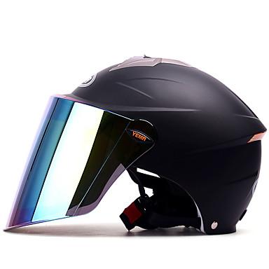 YEMA 327 نصف خوذة بالغين للجنسين دراجة نارية خوذة ضد الصدمات / ضد UV / ضد الهواء