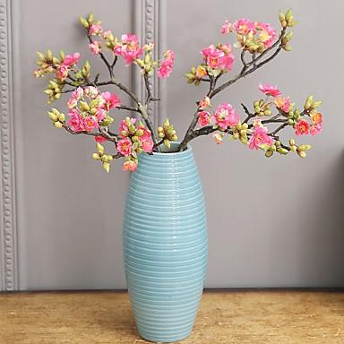 Künstliche Blumen 2 Ast Klassisch Einzelbett(150 x 200 cm) Rustikal Simple Style Sakura Ewige Blumen Tisch-Blumen