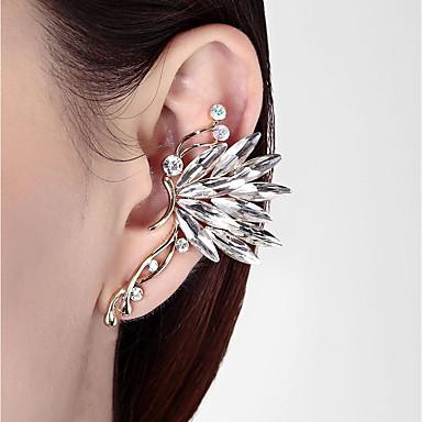 ieftine Cercei-Pentru femei Cătușe pentru urechi #D Fluture femei Stilat Clasic Ștras cercei Bijuterii Alb / Curcubeu Pentru Zilnic 1 buc