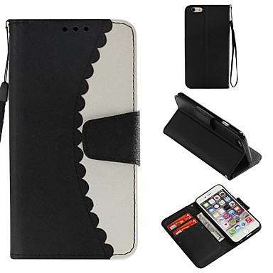 غطاء من أجل Apple ايفون 6s محفظة / حامل البطاقات / مع حامل غطاء كامل للجسم لون سادة قاسي جلد PU