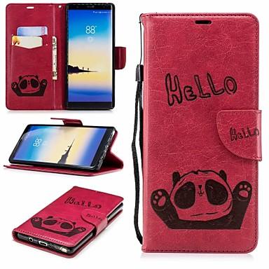 غطاء من أجل Samsung Galaxy Note 8 محفظة / حامل البطاقات / مع حامل غطاء كامل للجسم باندا قاسي جلد PU