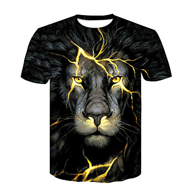 2946f789762b Χαμηλού Κόστους Ανδρικά μπλουζάκια και φανελάκια-Ανδρικά T-shirt Κλαμπ  Βασικό   Κομψό στυλ