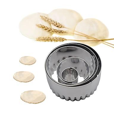 5pcs ستانلس ستيل جميل تصميم جديد قادم جديد كعكة بسكويت لأواني الطبخ دائري قوالب الكيك أدوات حلوى أدوات المعكرونة أدوات خبز