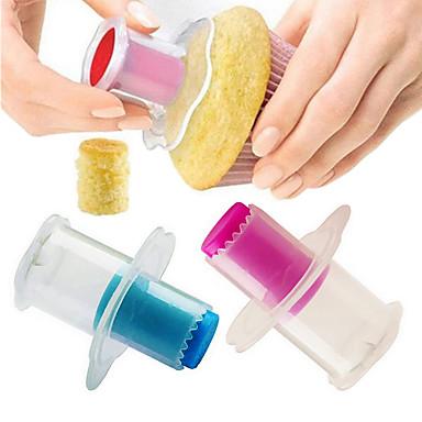 2pcs بلاستيك متعددة الوظائف إبداعي قابل للتعديل كعكة Cupcake فطيرة دائري قوالب الكيك أدوات الخبيز والعجين أدوات حلوى أدوات خبز