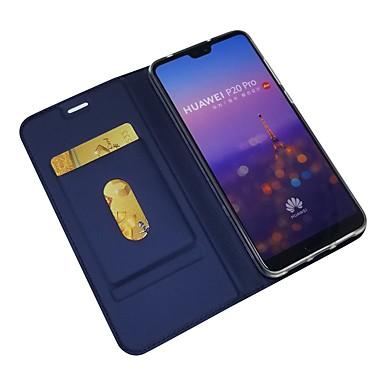 غطاء من أجل Huawei Huawei P20 / Huawei P20 Pro / Huawei P20 lite محفظة / حامل البطاقات / قلب غطاء كامل للجسم لون سادة قاسي جلد PU / P10 Plus / P10 Lite / P10
