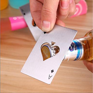 ايس فتاحة زجاجات لعبة البوكر الفولاذ المقاوم للصدأ لعب فتحت زجاجة البيرة كاب