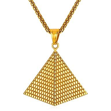 رجالي قلائد الحلي كلاسيكي خلاق كلاسيكي الفولاذ المقاوم للصدأ ذهبي فضي 55 cm قلادة مجوهرات 1PC من أجل هدية مناسب للبس اليومي