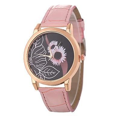 Xu™ نسائي ساعة المعصم كوارتز جلد اصطناعي أسود / الأبيض / أزرق ساعة كاجوال بديع مماثل سيدات كاجوال موضة - أخضر أزرق زهري سنة واحدة عمر البطارية