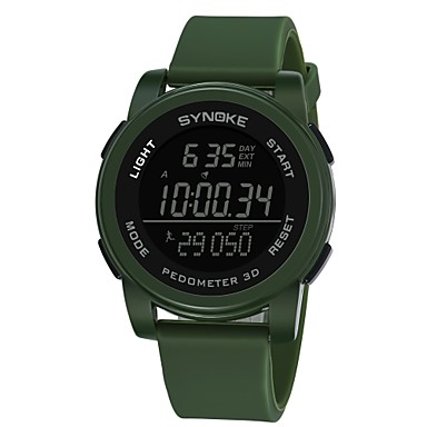 b202431afd1a abordables Relojes de Hombre-SYNOKE Hombre Reloj Deportivo Reloj digital  Digital Silicona Negro   Gris