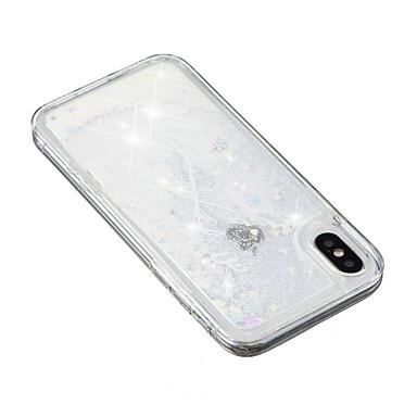 Per Glitterato disegno 8 a iPhone iPhone TPU Custodia Apple 8 X Per 8 Plus Piume Liquido Morbido iPhone iPhone Plus iPhone Glitterato Fantasia 06828201 X per retro cascata a4dFwP