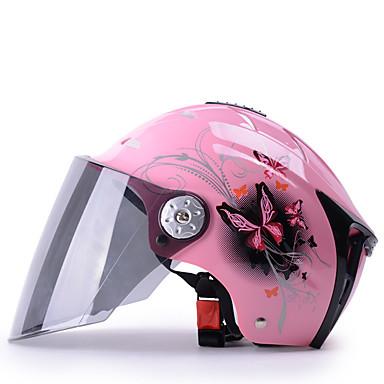 YEMA 310 نصف خوذة بالغين رجالي دراجة نارية خوذة ضد UV