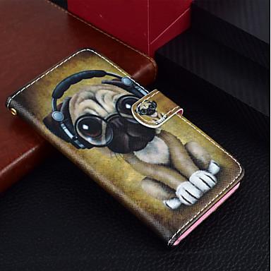 غطاء من أجل Huawei Huawei P20 / Huawei P20 lite / P10 Lite محفظة / حامل البطاقات / مع حامل غطاء كامل للجسم كلب قاسي جلد PU