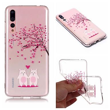 غطاء من أجل Huawei Huawei P20 / Huawei P20 Pro / Huawei P20 lite IMD / شفاف / نموذج غطاء خلفي كارتون / زهور ناعم TPU / P10 Lite
