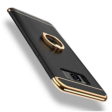 غطاء من أجل Samsung Galaxy S9 / S9 Plus / S8 Plus ضد الصدمات / تصفيح / حامل الخاتم غطاء خلفي لون سادة قاسي الكمبيوتر الشخصي