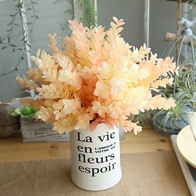 زهور اصطناعية 1 فرع كلاسيكي أسلوب بسيط النمط الرعوي نباتات أزهار الطاولة