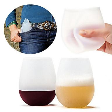 DRINKWARE أواني الشرب اليومية / أواني الشرب الطريفة / أكواب الشاي جسم كامل سيليكون المحمول / الضغط / هدية صديقها الرياضة & في الخارج / التخييم والتنزه