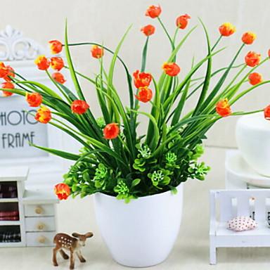 زهور اصطناعية 1 فرع كلاسيكي الحديث المعاصر أسلوب بسيط أزهار التولب الزهور الخالدة المزهرية أزهار الطاولة
