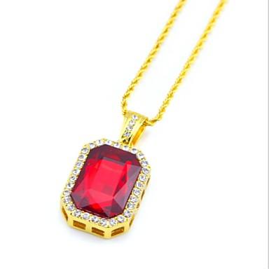 نسائي قلائد الحلي قلادات السلسلة كلاسيكي قديم سيدات سبيكة أحمر أزرق 27 cm قلادة مجوهرات 1PC من أجل هدية مناسب للبس اليومي