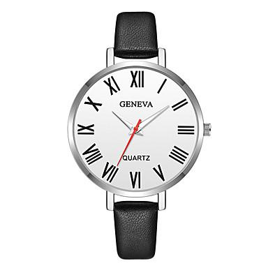Geneva نسائي ساعة المعصم كوارتز جلد أسود / بني تصميم جديد ساعة كاجوال كوول مماثل سيدات كاجوال موضة - بني فضي / أسود فضي / الأبيض سنة واحدة عمر البطارية