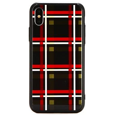 غطاء من أجل Apple iPhone X / iPhone 8 Plus / iPhone 8 نموذج غطاء خلفي خطوط / أمواج قاسي زجاج مقوى
