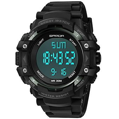 Χαμηλού Κόστους Ανδρικά ρολόγια-SANDA Ανδρικά Αθλητικό Ρολόι Ψηφιακό ρολόι Ιαπωνικά Ψηφιακό Συνθετικό δέρμα με επένδυση Μαύρο 30 m Ανθεκτικό στο Νερό Ημερολόγιο Χρονόμετρο Ψηφιακό Πολυτέλεια Μοντέρνα - Κόκκινο Πράσινο Μπλε