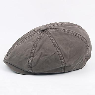 الخريف الشتاء رمادي أخضر داكن كاكي قبعة قلنسوة لون سادة رجالي قطن بوليستر,عتيق عمل