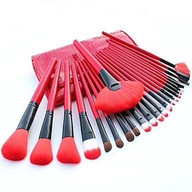 24 Stück Makeup Bürsten Professional Bürsten-Satz- Pony Bürste / Nylon Pinsel / Künstliches Haar Antibakteriell