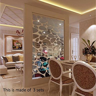 لواصق حائط مزخرفة - لواصق / ملصقات الحائط على المرآة أشكال / 3D غرفة الجلوس / داخلي