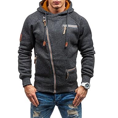 5e1e350d7a7c Χαμηλού Κόστους Αντρικές Μπλούζες με Κουκούλα  amp  Φούτερ-Ανδρικά Βασικό  Παντελόνι - Μονόχρωμο Μαύρο