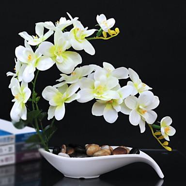 زهور اصطناعية 1 فرع كلاسيكي زهري الزنابق أزهار الطاولة