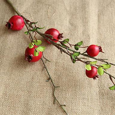 زهور اصطناعية 1 فرع كلاسيكي أوروبي النمط الرعوي فاكهة أزهار الطاولة