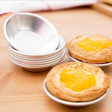6 قطع حامل تورتة كب كيك مهلبية البيض العفن الألومنيوم العفن كعكة أدوات الخبز