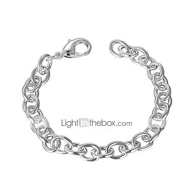 voordelige Heren Armband-Heren Armbanden met ketting en sluiting Enkele Draad Creatief Eenvoudig Standaard Koper Armband sieraden Zilver Voor Dagelijks Werk / Verzilverd