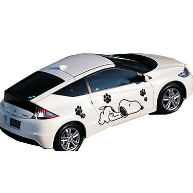 أبيض / أسود Car Stickers كرتون ملصقات الباب كارتون ملصقات