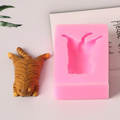 1PC سيليكون 3Dكرتون خلاق عيد ميلاد كعكة لأواني الطبخ لكعكة مربع قوالب الكيك أدوات خبز