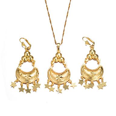 نسائي مجموعة مجوهرات سيدات, عرقي تتضمن أقراط قطرة أقراط طارة قلائد الحلي مفاتن ذهبي من أجل عيد ميلاد هدية