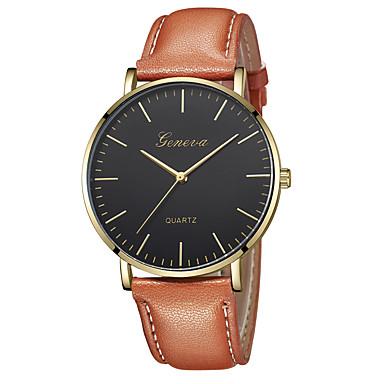 Geneva Pentru femei Ceas de Mână Quartz Piele Negru / Maro Model nou Ceas Casual Cool Analog Casual Modă - Maro Auriu Roz auriu / Alb Negru / Roz auriu Un an Durată de Viaţă Baterie