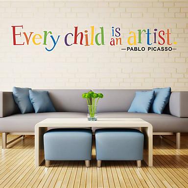 لواصق حائط مزخرفة - الكلمات ونقلت ملصقات الحائط الأحرف حضانة / المكتب